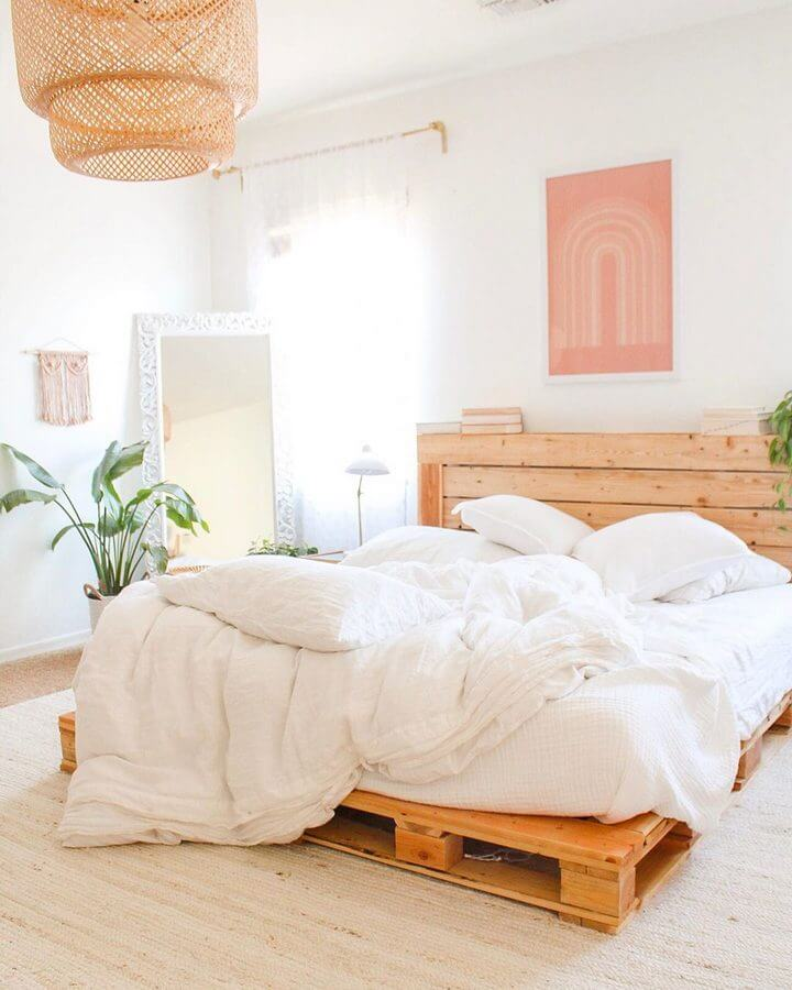 Easy pallet bed ideas